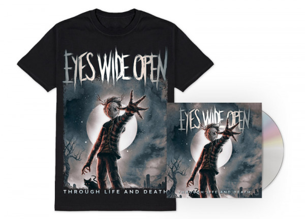 EYES WIDE OPEN - Through Life and Death Bundle - T-Shirt CD
